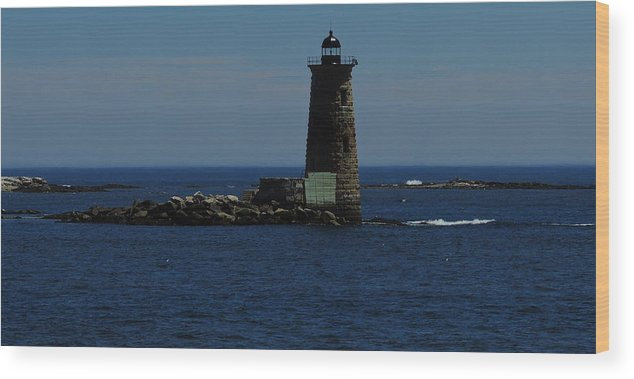 Whaleback Wood Print featuring the photograph Whaleback Light by Mim White