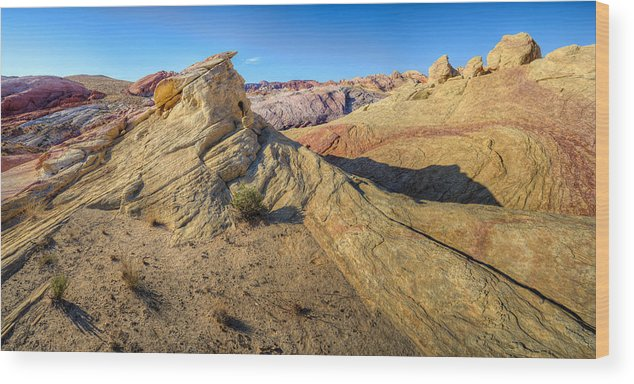 Hdr Wood Print featuring the photograph The Summit by Stephen Campbell
