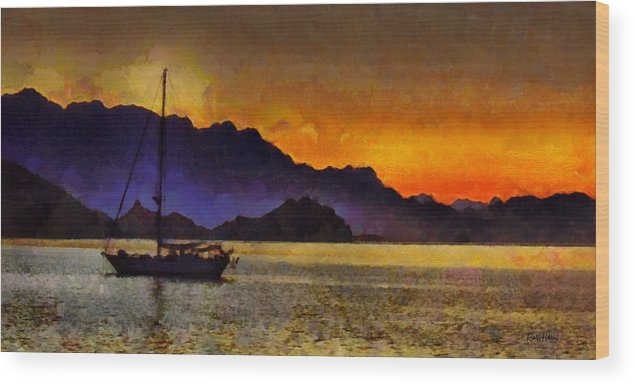 Baja Wood Print featuring the photograph Sea Of Cortez Sunset In Baja by Russ Harris