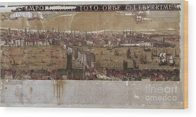 1650 Wood Print featuring the photograph Visscher: London, 1650 by Granger