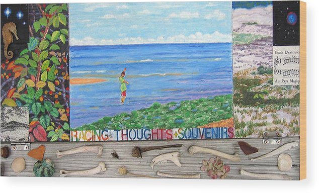 Cape Cod Wood Print featuring the painting I Sell Prints by Susan Stewart