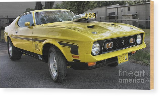 1972 Ford Mustang Mach 1 Wood Print By Richard Rizzo