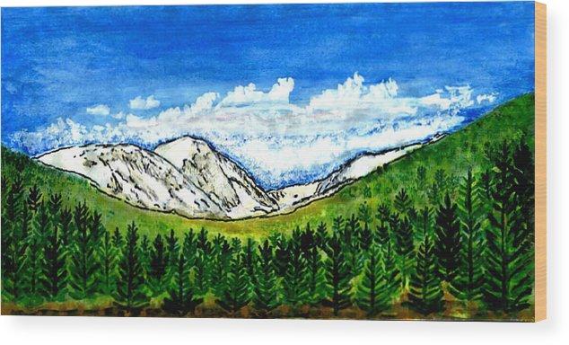 Colorado Wood Print featuring the digital art jGibney Breckenridge CO 1999art300dpi18-9M jGibney by The MUSEUM Artist Series jGibney