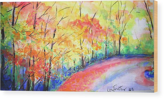 Autumn Wood Print featuring the painting Autumn Lane Iv by Lizzy Forrester