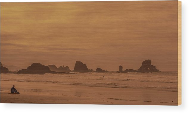 Surf Wood Print featuring the photograph Cannon Beach 4 by Marcel Van der Stroom