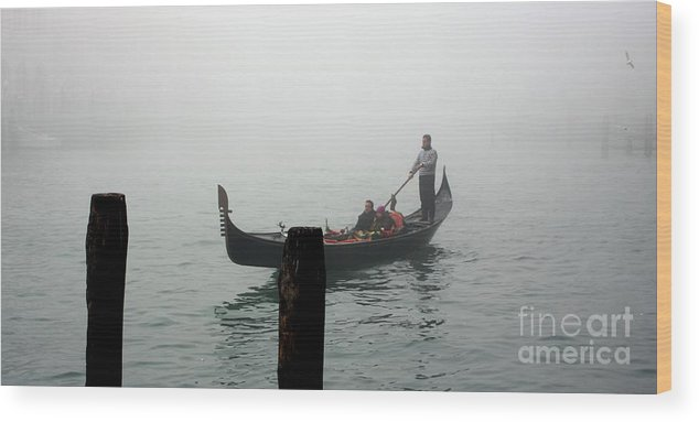 Italy Wood Print featuring the photograph Gondola In The Fog by Michael Henderson