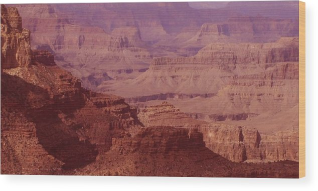 Grand Canyon Wood Print featuring the photograph Grand Canyon Distances by Christopher Kirby