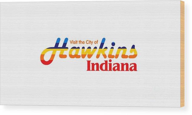 Hawkins Badge Wood Print featuring the digital art Hawkins Badge by Dominic Fransisce
