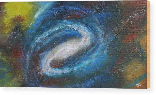 Milky Way Wood Print featuring the painting Home Is Where The Sun Is by David McGhee