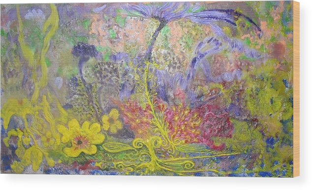 Wood Print featuring the painting Spirit Garden by Heather Hennick