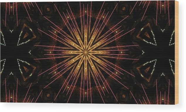 Kaleidoscope Wood Print featuring the photograph Starburst Sand Painting by M E Cieplinski