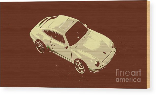 Sportcars Wood Print featuring the photograph Nineties Retro by Jorgo Photography - Wall Art Gallery