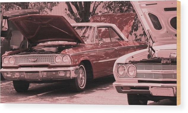 Car Wood Print featuring the photograph Hot Rod by Lisa Johnston