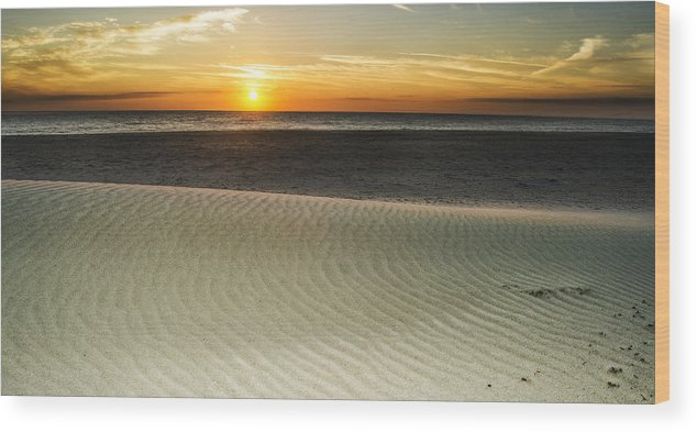 Amelia Island Sunrise Wood Print featuring the photograph Dune Sunrise by Island Sunrise and Sunsets Pieter Jordaan