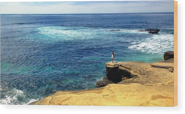 Ocean Wood Print featuring the photograph Beauty Awaits by Antonio Marquis