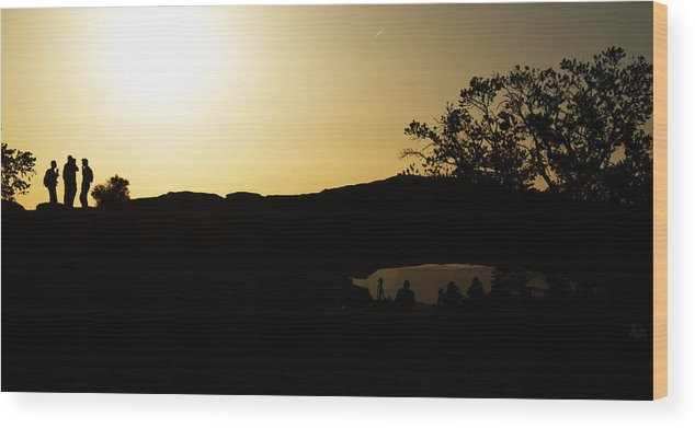 Sunrise Wood Print featuring the photograph Getting The Shot by Debby Richards