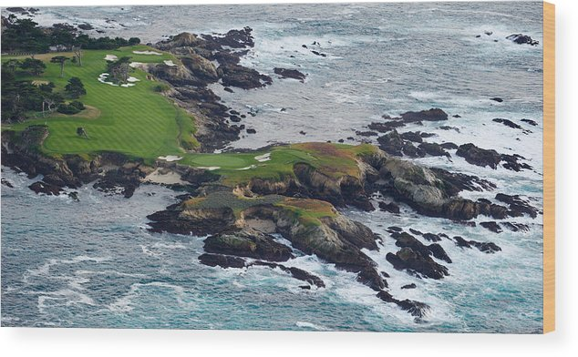 Photography Wood Print featuring the photograph Golf Course On An Island, Pebble Beach by Panoramic Images