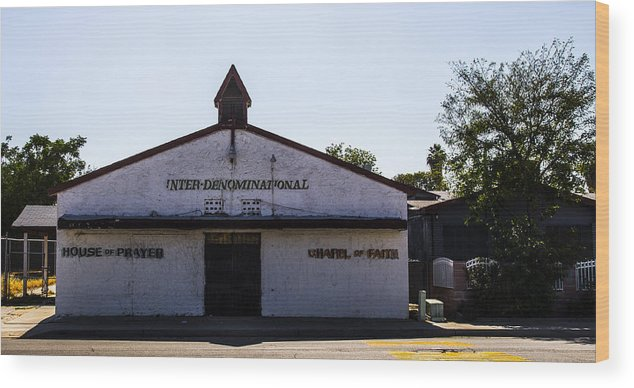 Route 66 Wood Print featuring the photograph House Of Prayer by Angus Hooper Iii