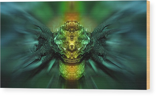 Alien Wood Print featuring the photograph Interdimensional by WB Johnston