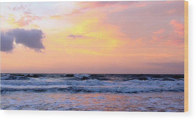 Topsail Wood Print featuring the photograph Topsail Island Pastel Sunrise by Rand Wall
