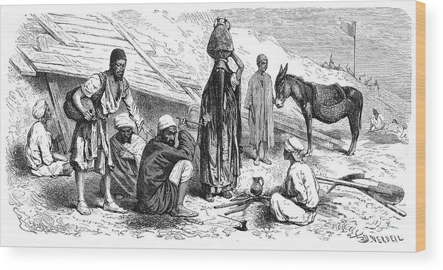 1869 Wood Print featuring the photograph Suez Canal Construction by Granger
