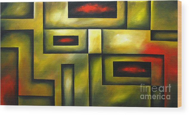Abstract Painting Wood Print featuring the painting A Notion by Uma Devi