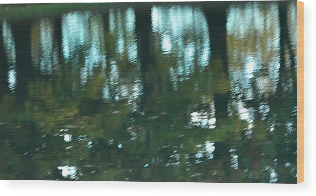 Landscape Wood Print featuring the photograph Early Morning Reflections by Michael Pope