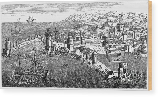 1488 Wood Print featuring the photograph Rhodes, 1488 by Granger