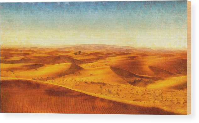 African sand dune art painting sand dunes wood print by wall art africa wood print featuring the painting african sand dune art painting sand dunes by wall sciox Image collections