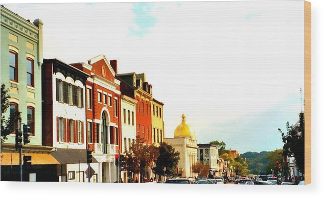 Buildings Wood Print featuring the photograph Georgetown by Bob Gardner