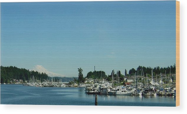 Gig Harbor Bay Wood Print featuring the photograph Gig Harbor Bay by Valerie Josi