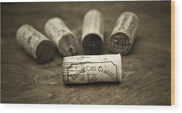 Wine Wood Print featuring the photograph Grand Cru Classe by Frank Tschakert