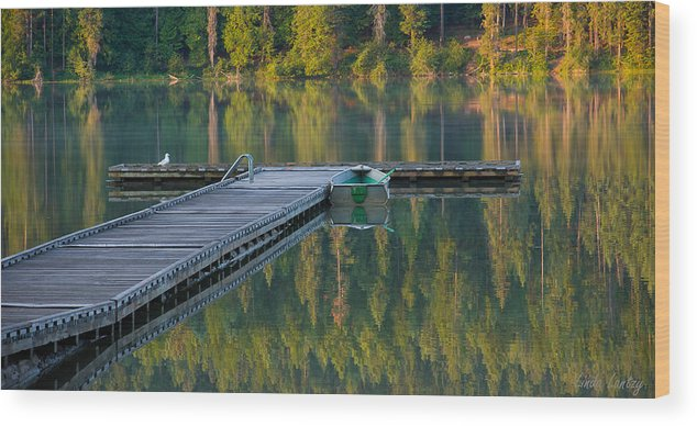 Dock Wood Print featuring the photograph Morning Light by Idaho Scenic Images Linda Lantzy