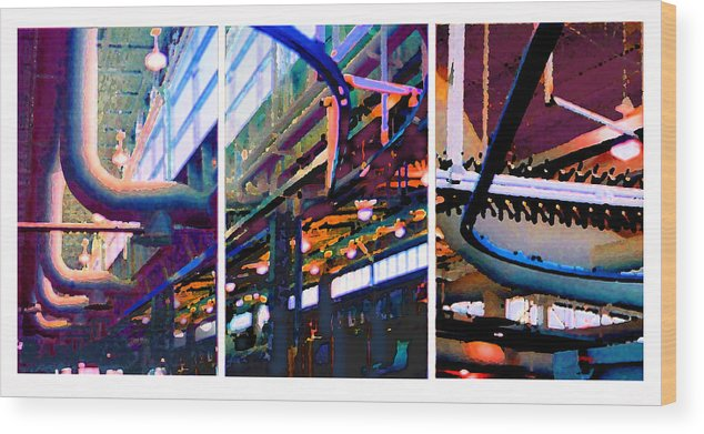 Abstract Wood Print featuring the photograph Star Factory by Steve Karol