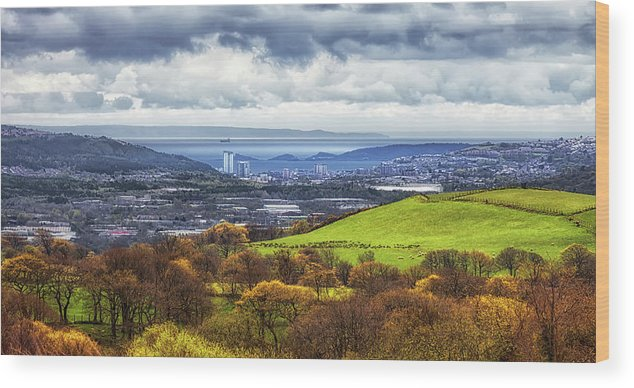 Swansea Wood Print featuring the photograph Swansea And Mumbles by Leighton Collins