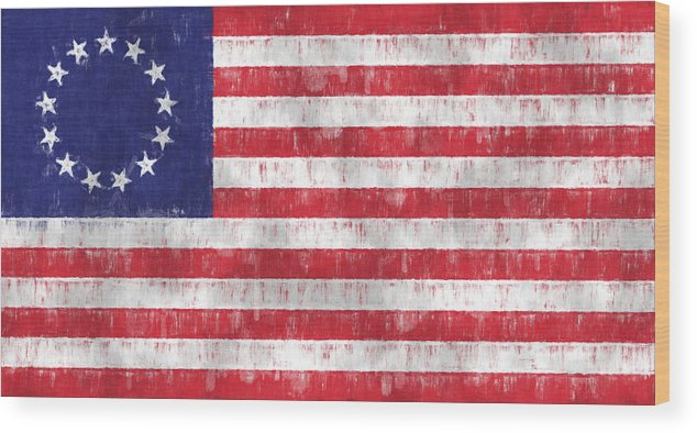 photo regarding Betsy Ross Printable Pictures named Betsy Ross Flag Wooden Print