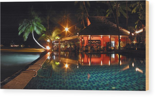 3scape Wood Print featuring the photograph Koh Samui Beach Resort by Adam Romanowicz