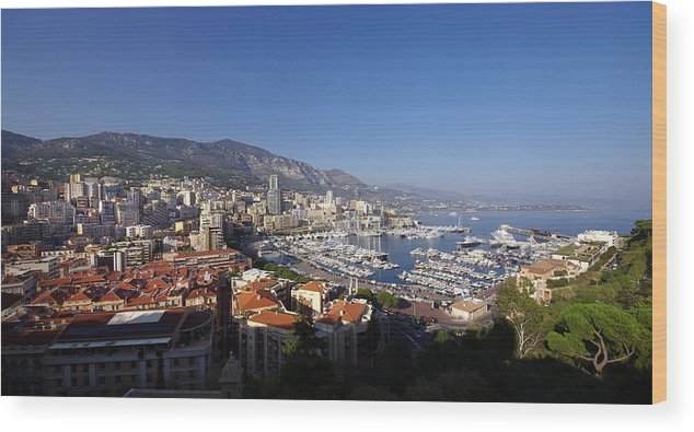 Azur Wood Print featuring the photograph Monaco by Ioan Panaite
