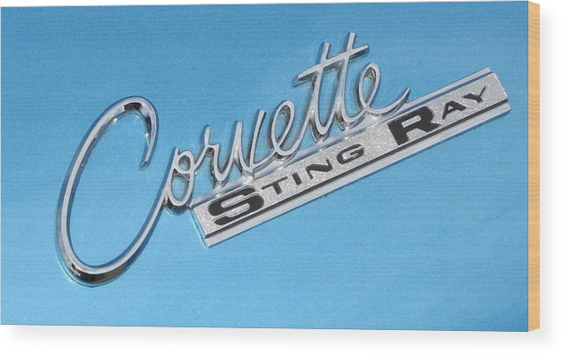 Corvette Wood Print featuring the photograph Pretty In Blue by Liz Tomlinson