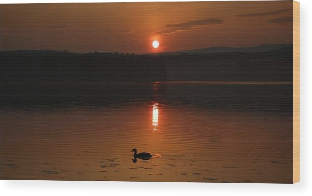 Lake Wood Print featuring the photograph Sunrise At Canaan Street Lake by Sharon L Stacy