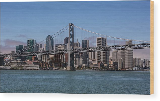Scenics Wood Print featuring the photograph Taking The San Francisco Bay Ferry To by George Rose