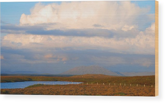 Ireland Wood Print featuring the photograph Wide Open Spaces by Charlie and Norma Brock