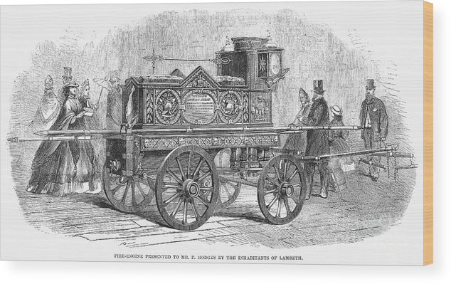 1862 Wood Print featuring the photograph Fire Engine, 1862 by Granger