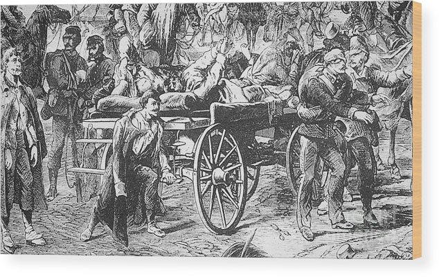 1866 Wood Print featuring the photograph Germany: Seven Weeks War by Granger