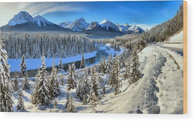 Wood Print featuring the photograph Bow Valley Winter View by Adam Jewell