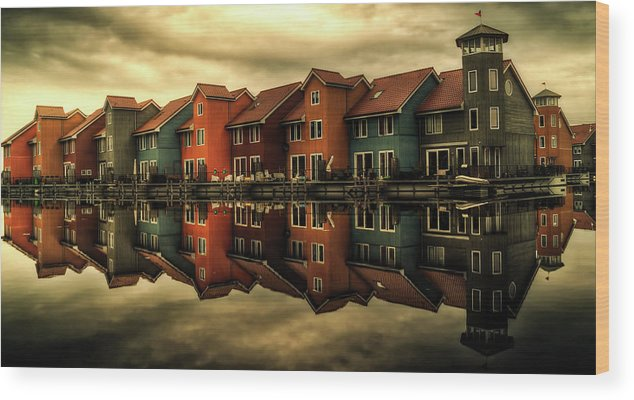 Groningen Wood Print featuring the photograph Reflections Of Groningen by Skitterphoto