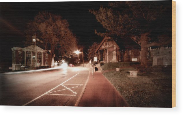 Long Island Wood Print featuring the photograph 25a East Bound by Michael Simeone