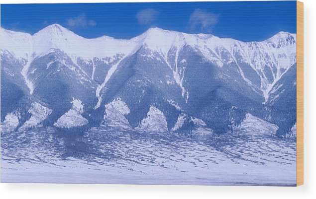 Mountains Wood Print featuring the photograph Blue Peaks by Jerry McElroy