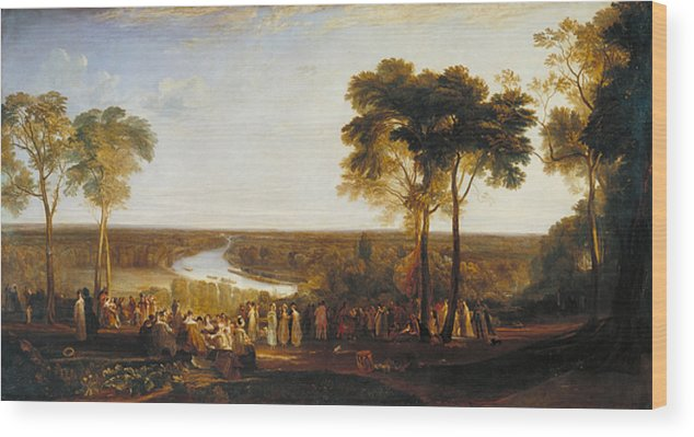 British Wood Print featuring the painting England, Richmond Hill, On The Prince Regent's Birthday by JMW Turner
