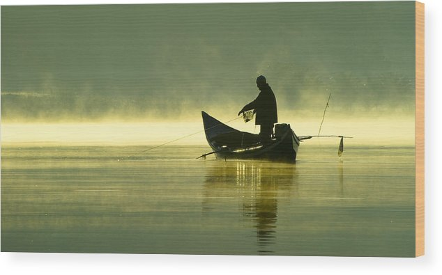 Sport Wood Print featuring the photograph Fishing by Homydesign